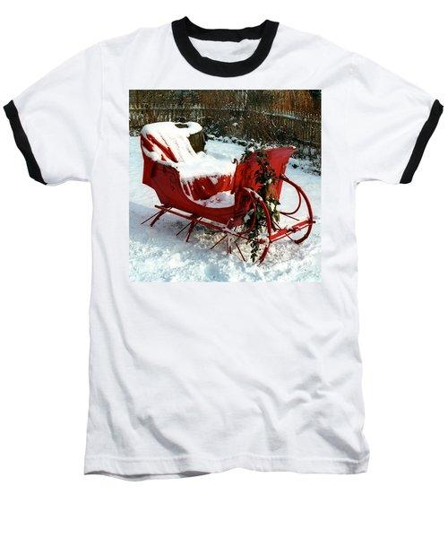 Christmas Sleigh Baseball T-Shirt
