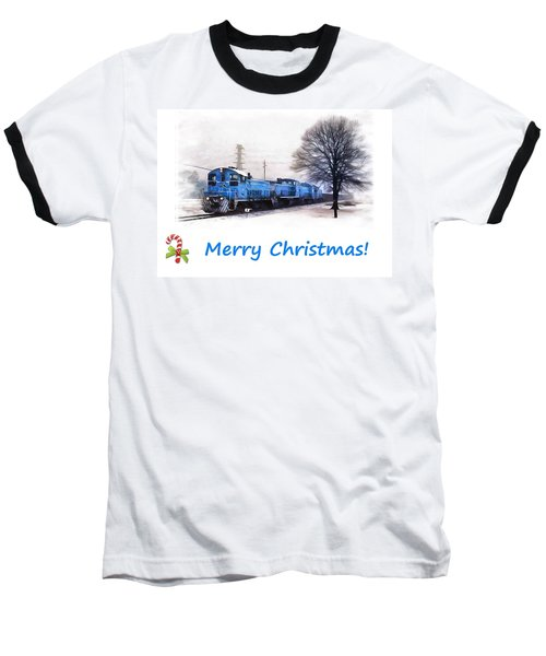 Christmas Train Baseball T-Shirt