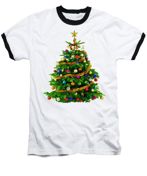 Christmas Tree 1417 Baseball T-Shirt by Rafael Salazar