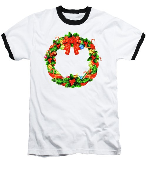 Christmas Wreath Baseball T-Shirt