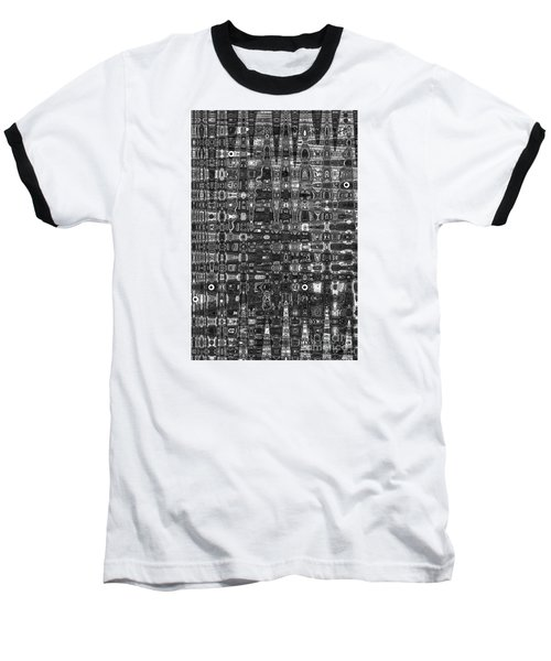 Baseball T-Shirt featuring the photograph Chromosome 22 Bw by Diane E Berry