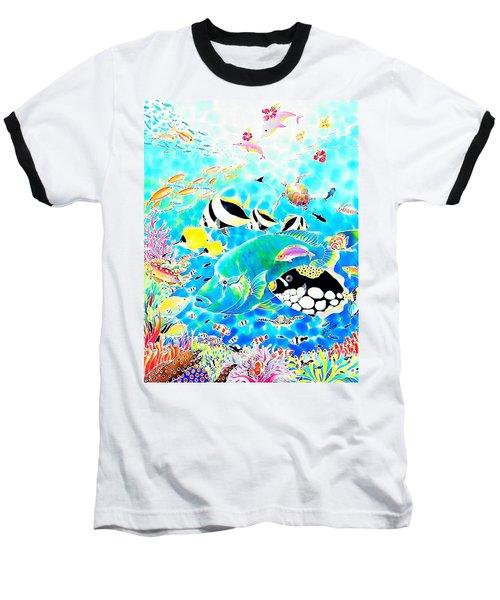 Baseball T-Shirt featuring the painting Churaumi Dream by Hisayo Ohta