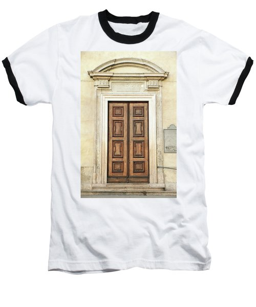 Church Door Baseball T-Shirt