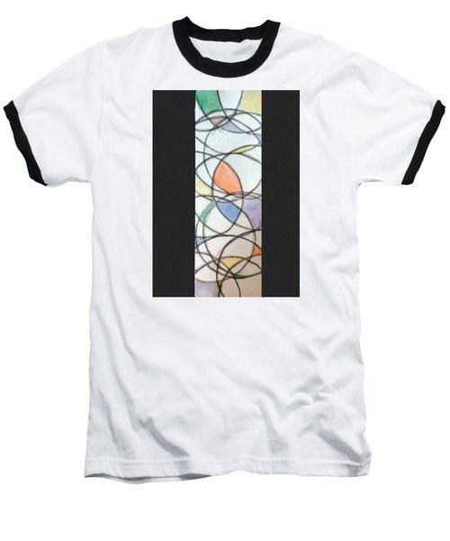 Church Glass Baseball T-Shirt by Loretta Nash