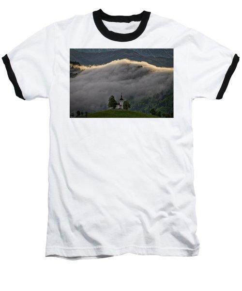 Baseball T-Shirt featuring the photograph Church Of St. Thomas - Slovenia by Stuart Litoff