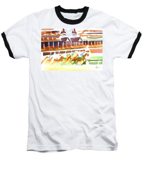 Churchill Downs Watercolor Baseball T-Shirt