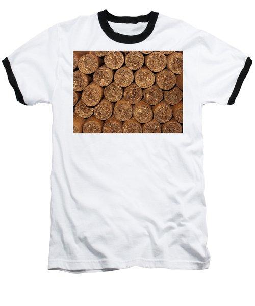 Cigars 262 Baseball T-Shirt by Michael Fryd