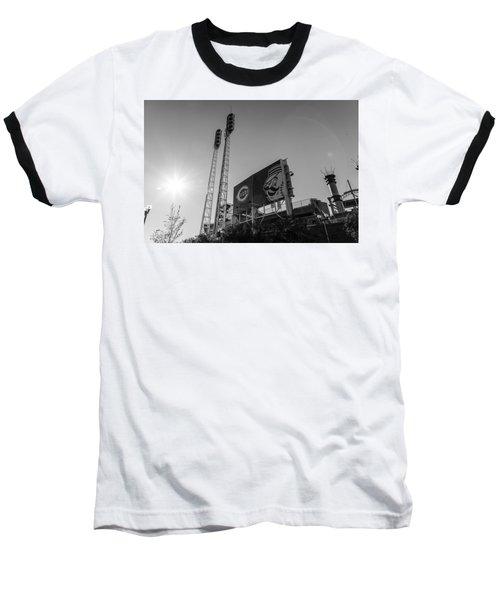 Cincinnati Reds Riverfront Stadium Black And White  Baseball T-Shirt