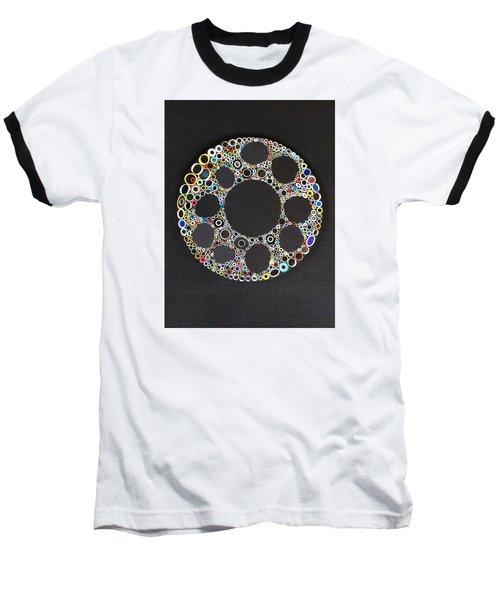 Circular Convergence Of Mutated Molecules Baseball T-Shirt