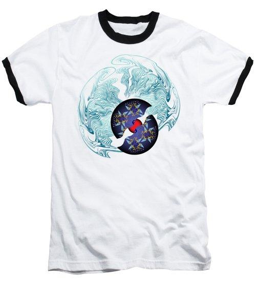 Circularium No 2635 Baseball T-Shirt by Alan Bennington