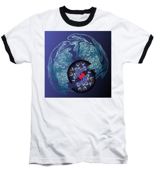 Circularium No 2636 Baseball T-Shirt by Alan Bennington