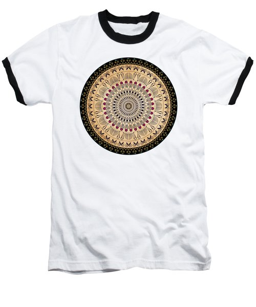 Baseball T-Shirt featuring the digital art Circularium No 2637 by Alan Bennington