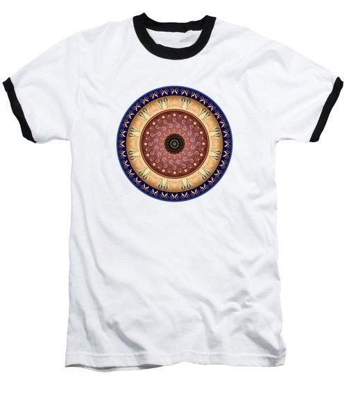 Circularium No 2647 Baseball T-Shirt by Alan Bennington