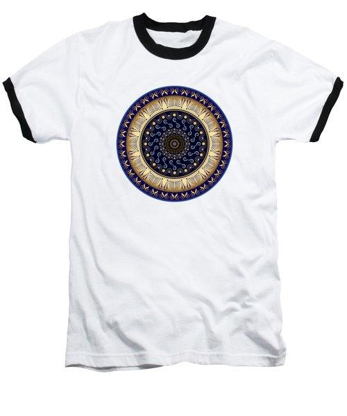 Circularium No 2648 Baseball T-Shirt by Alan Bennington