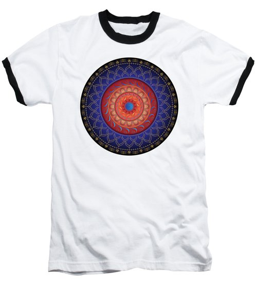 Baseball T-Shirt featuring the digital art Circularium No 2654 by Alan Bennington