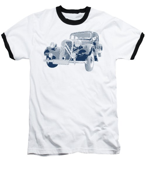 Citroen Traction Avant  - Parallel Hatching Baseball T-Shirt