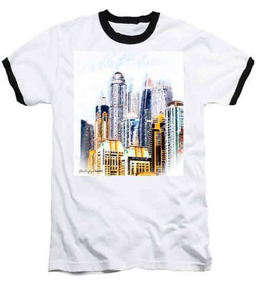 City Abstract Baseball T-Shirt