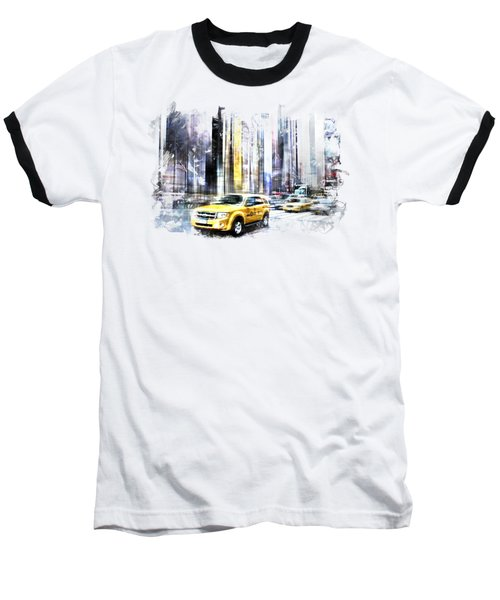 City-art Times Square II Baseball T-Shirt