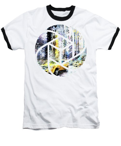 City-art Times Square Streetscene Baseball T-Shirt