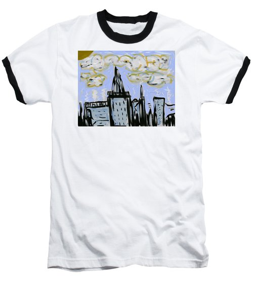 City In Blue Baseball T-Shirt