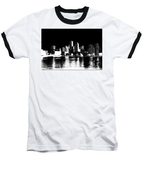 City Of Boston Skyline   Baseball T-Shirt
