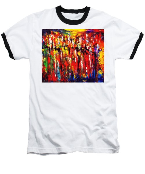 City. Series Colorscapes. Baseball T-Shirt