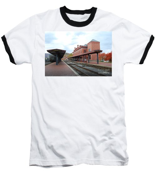 Baseball T-Shirt featuring the photograph City Station by Eric Liller