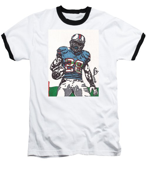 Cj Spiller 1 Baseball T-Shirt by Jeremiah Colley