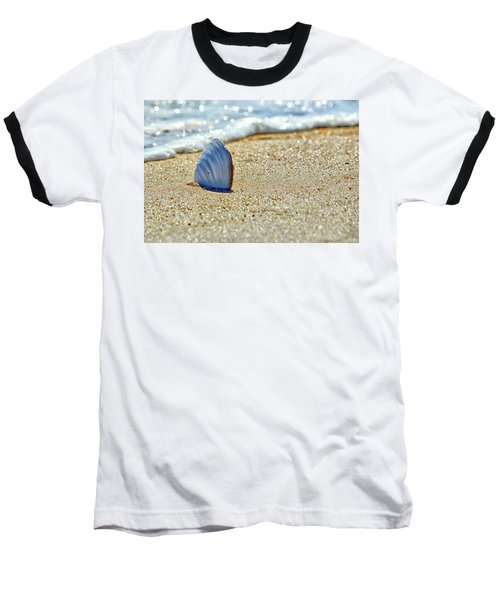 Clamshell In The Waves On Assateague Island Baseball T-Shirt