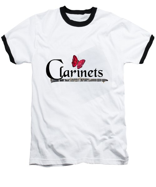 Clarinets And Butterfly Baseball T-Shirt
