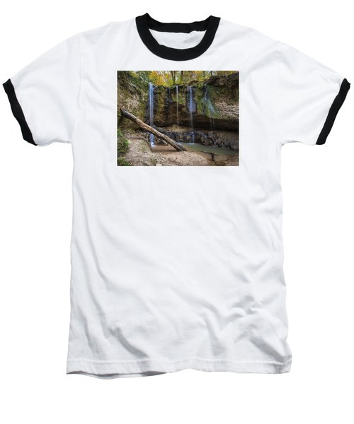 Clark Creek Waterfall No. 1 Baseball T-Shirt
