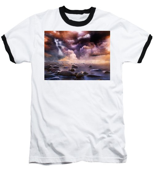 Clash Of The Clouds Baseball T-Shirt by Gabriella Weninger - David