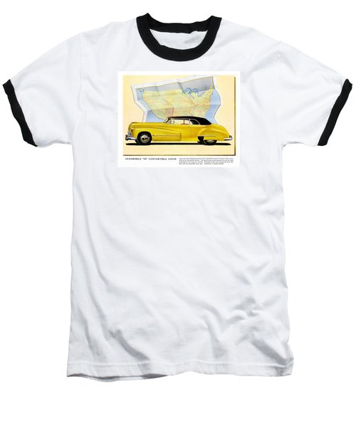Classic Car Ads Baseball T-Shirt by Allen Beilschmidt