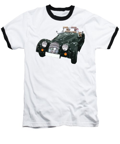 Classic Motor Art In Green Baseball T-Shirt