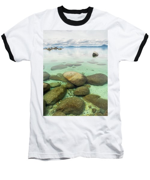 Clear Water, Stormy Sky Baseball T-Shirt
