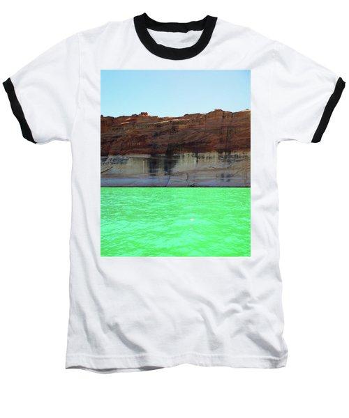 Cliff At Lake Powell Baseball T-Shirt