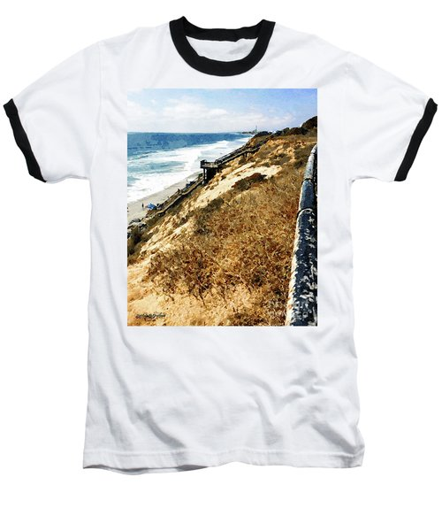 Cliff View - Carlsbad Ponto Beach Baseball T-Shirt