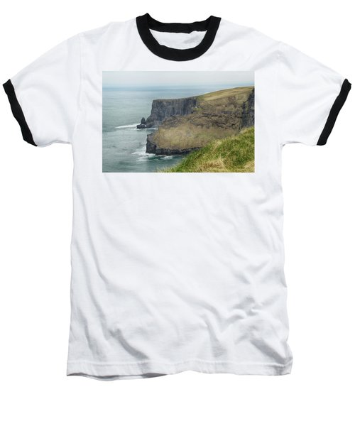 Baseball T-Shirt featuring the photograph Cliffs Of Moher 1 by Marie Leslie