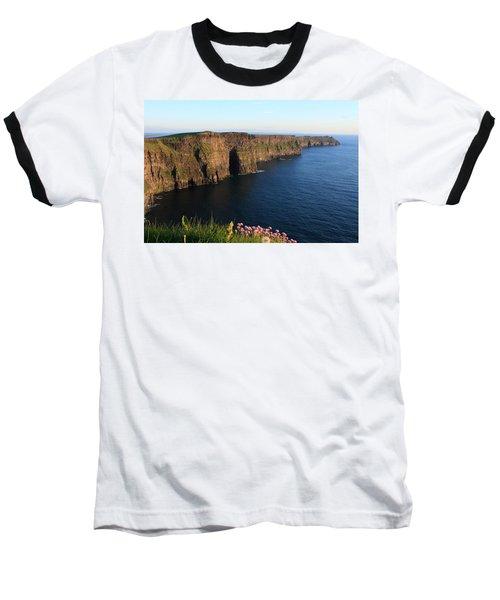Cliffs Of Moher In Evening Light Baseball T-Shirt by Aidan Moran