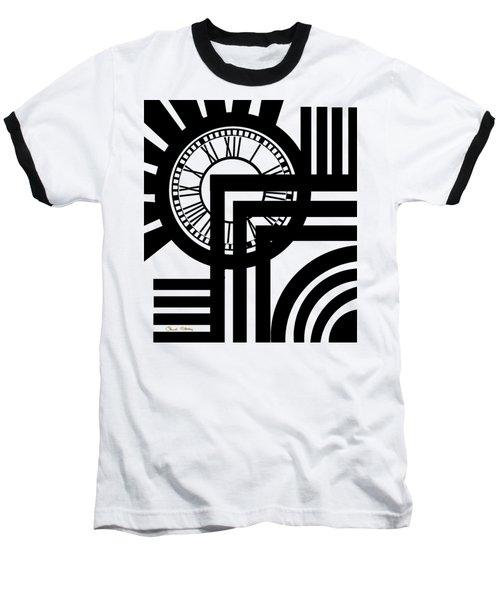 Clock Design Vertical Baseball T-Shirt