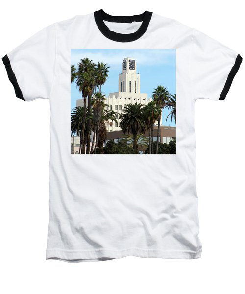 Clock Tower Building, Santa Monica Baseball T-Shirt