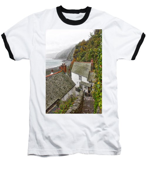 Clovelly Coastline Baseball T-Shirt