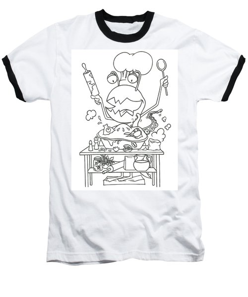 Closet Monster Baking Baseball T-Shirt