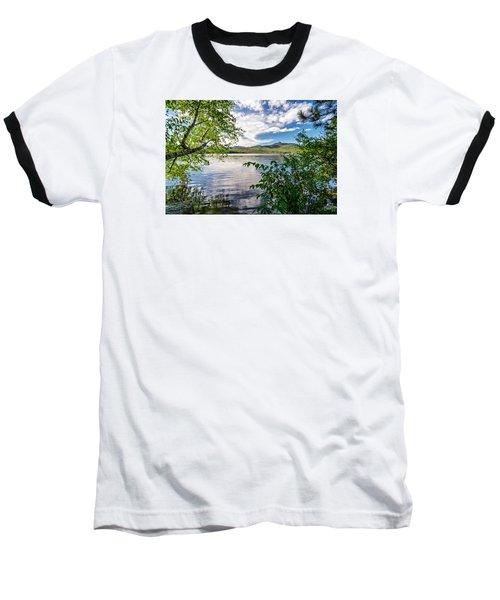 Cloud Swirl Mt. Chocorua Nh Baseball T-Shirt by Michael Hubley