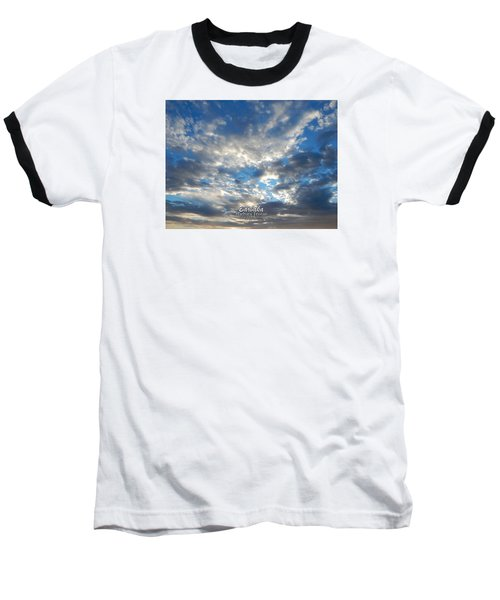 Clouds #4049 Baseball T-Shirt