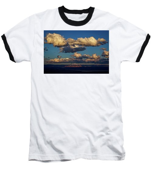 Clouds And Red Rocks Hdr Baseball T-Shirt