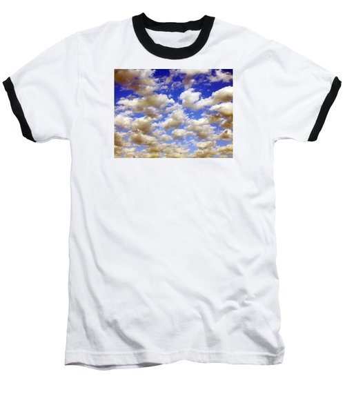 Clouds Blue Sky Baseball T-Shirt by Jana Russon