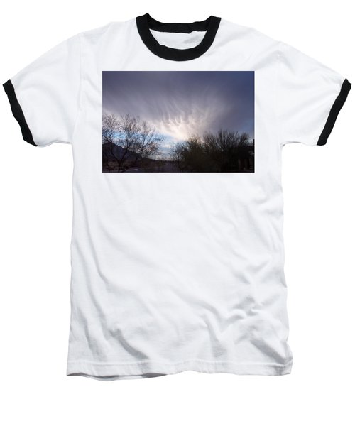 Baseball T-Shirt featuring the painting Clouds In Desert by Mordecai Colodner