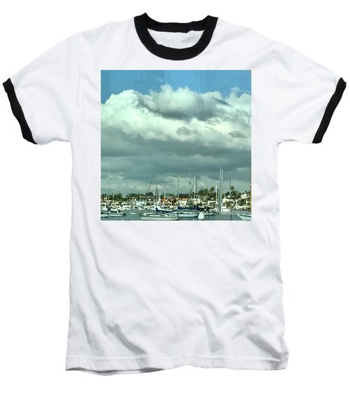 Clouds On The Bay Baseball T-Shirt by Kim Nelson