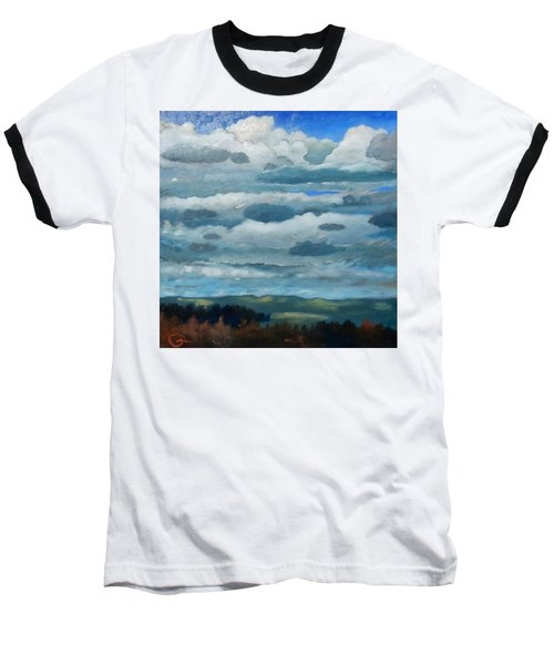 Baseball T-Shirt featuring the painting Clouds Over South Bay by Gary Coleman
